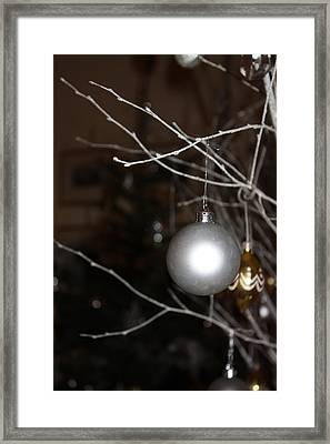 Christmas Bauble Framed Print by Yvonne Ayoub