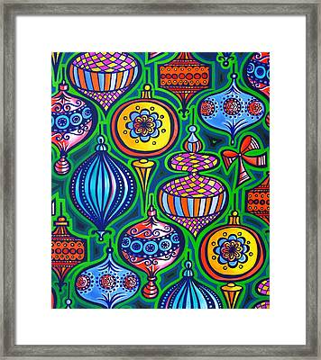 Christmas Baubles Framed Print by Jane Tattersfield
