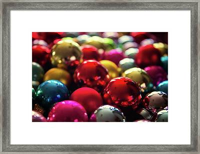 Christmas Baubles Framed Print by Martin Newman