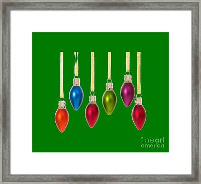 Christmas Baubles Tee Framed Print