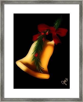 Christmas Bell Framed Print