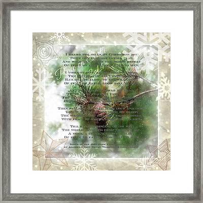 Christmas Bells Framed Print by Anita Faye