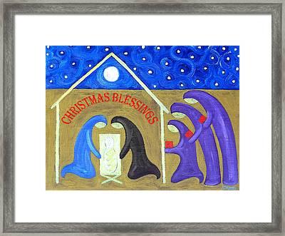 Christmas Blessings 2 Framed Print by Patrick J Murphy