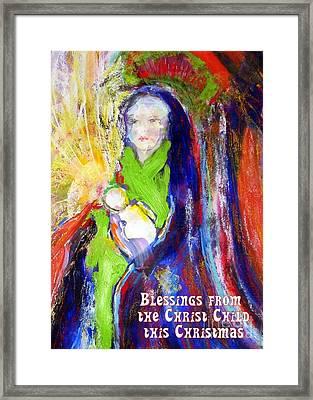 Christmas Blessings Framed Print