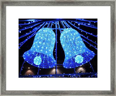Christmas Blue Bells Framed Print