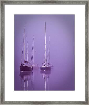 Christmas Boats Sleeping Framed Print by Arthur Sa