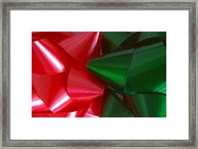 Christmas Bows 1 Framed Print by Steve Ohlsen