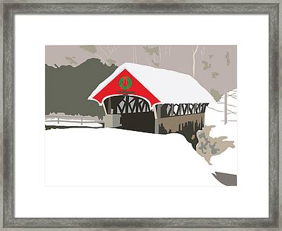 Christmas Bridge Framed Print by Marian Federspiel