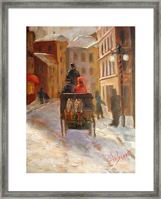 Christmas Buggy Ride  Framed Print by Claiborne Hemphill-Trinklein