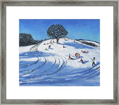 Christmas, Burley Lane, Derby Framed Print by Andrew Macara