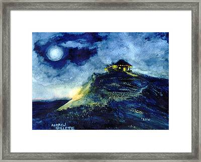 Framed Print featuring the painting Christmas By The Sea by Andrew Gillette