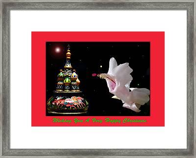 Christmas Cactus Floral Fantasy. Framed Print