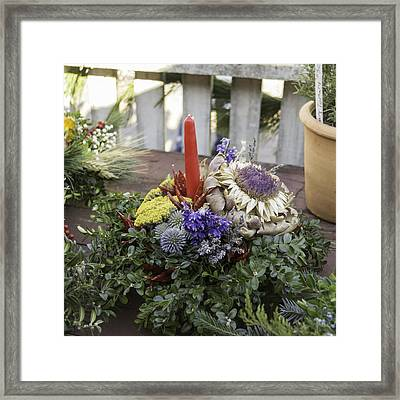 Christmas Candle 04 Framed Print by Teresa Mucha