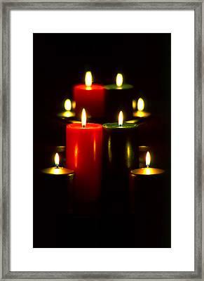 Christmas Candles 5 Framed Print by Steve Ohlsen