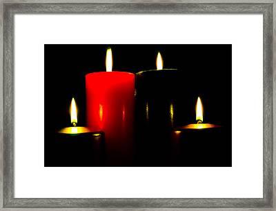 Christmas Candles 7a Framed Print by Steve Ohlsen