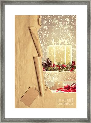 Christmas Candles Framed Print