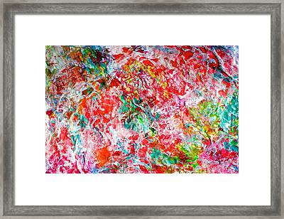 Framed Print featuring the painting Christmas Candy Color Poem by Polly Castor