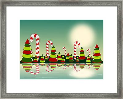Christmas Candy Island Framed Print
