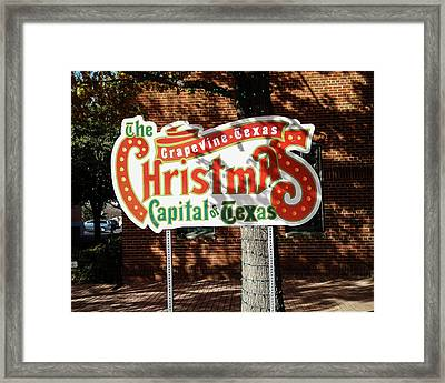 Christmas Capital Of Texas Framed Print by Allen Sheffield