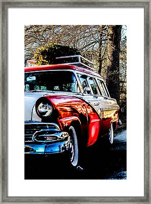 Christmas Car Framed Print by Victory  Designs