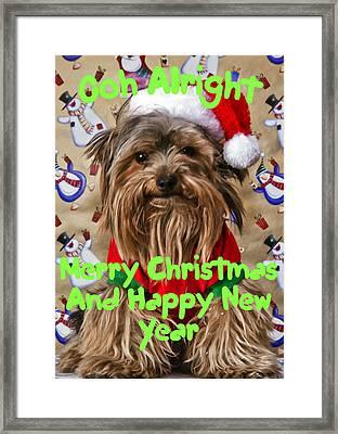 Christmas Card 1 Framed Print by Dennis Hofelich