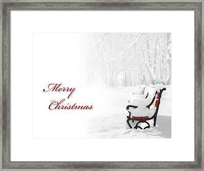 Christmas Card Framed Print by Jaroslaw Grudzinski