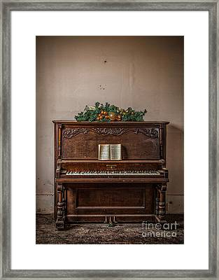 Framed Print featuring the photograph Christmas Card With Piano In Old Church by T Lowry Wilson