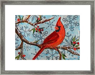 Christmas Cardinal Framed Print