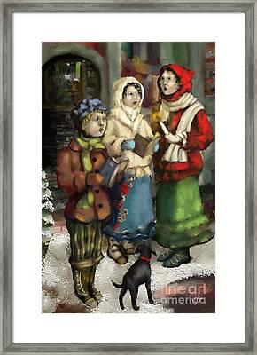 Christmas Carol 2 Framed Print by Carrie Joy Byrnes