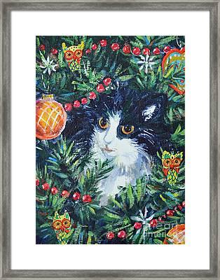 Christmas Catouflage Framed Print