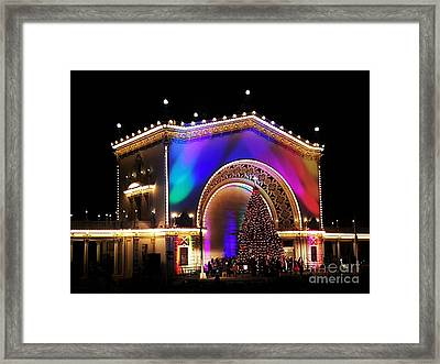 Christmas Celebration In San Diego  Framed Print