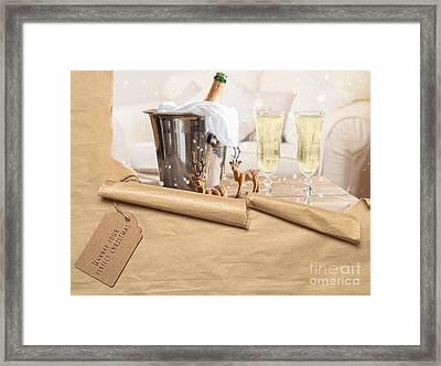 Christmas Champagne Framed Print