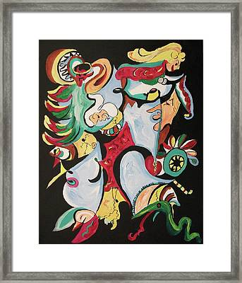 Christmas Chaos Framed Print by Suzanne  Marie Leclair