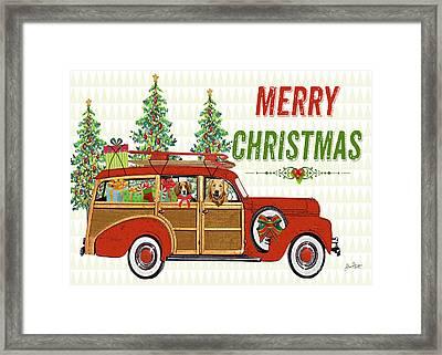 Christmas Cheer-greeting Card Framed Print