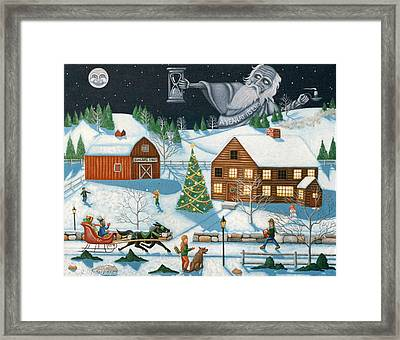 Christmas Cheer In Southern Vermont Framed Print by Joshua Mac Allistar