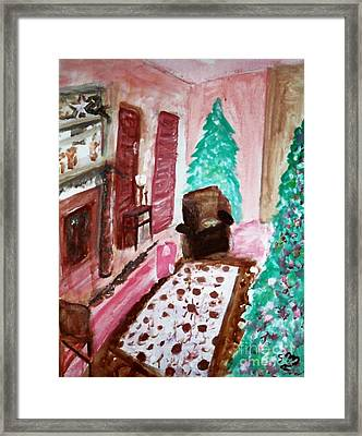 Christmas Cheer Framed Print by Stanley Morganstein