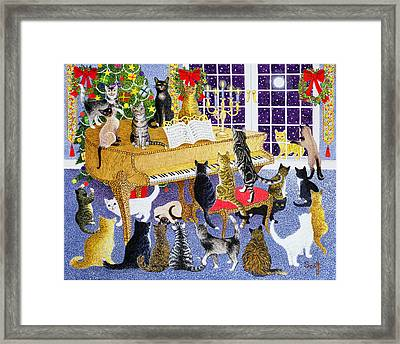 Christmas Chorus Framed Print by Pat Scott