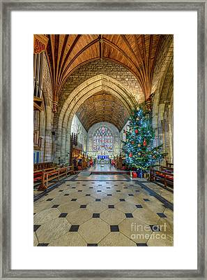 Christmas Church Framed Print by Adrian Evans