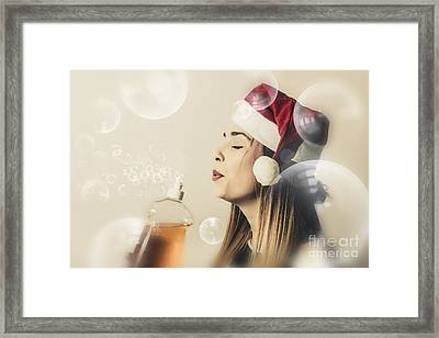 Christmas Cleaning Housewife Framed Print