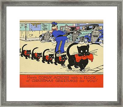 Christmas Clowder Framed Print by JAMART Photography