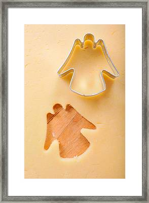Christmas Cookie Angel Shape Framed Print