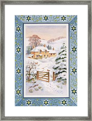 Christmas Cottage Framed Print by Stanley Cooke