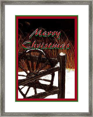 Framed Print featuring the digital art Christmas Country by Michelle Audas