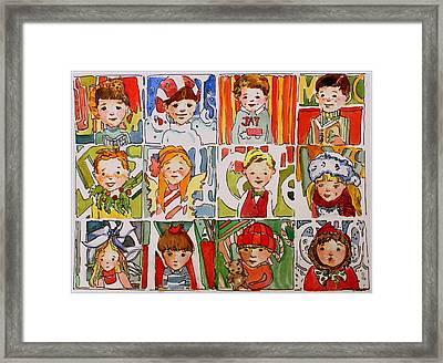 Christmas Cousins Framed Print by Mindy Newman