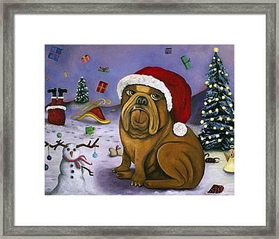 Christmas Crash Framed Print by Leah Saulnier The Painting Maniac