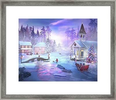 Christmas Creek Framed Print