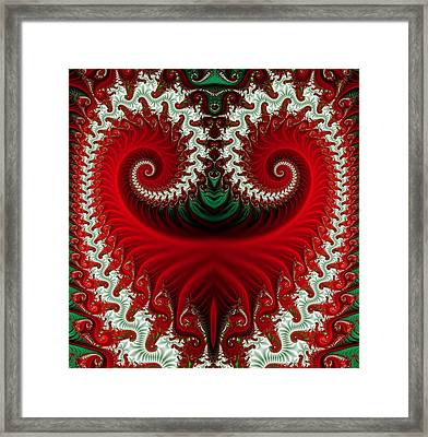 Christmas Swirls Framed Print