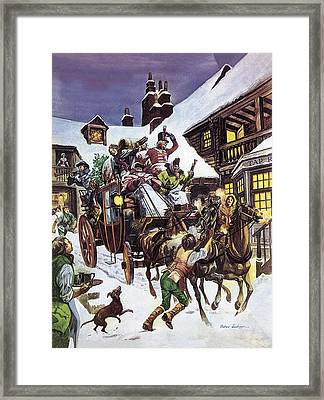 Christmas Day In The Eighteenth Century Framed Print by Peter Jackson