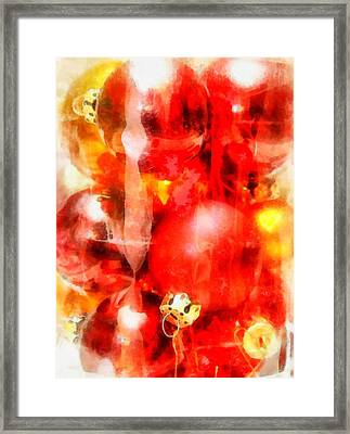 Christmas Decorations Framed Print by Esoterica Art Agency