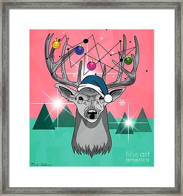 Christmas Deer Framed Print by Mark Ashkenazi